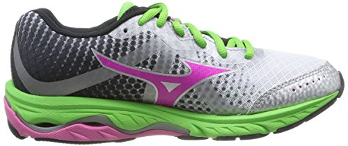 Mizuno WOS Wave Eis Anthrazit Damen Laufschuhe Elevation rxZnqtpwrS