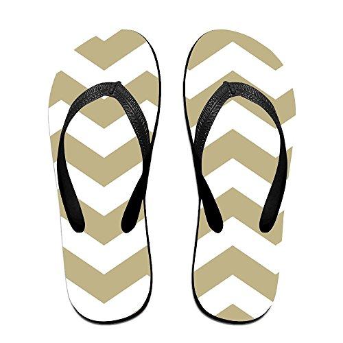 Unisex Aqua En Witte Zig Zag1 Zomer Band Slippers Strand Slippers Platforms Sandaal Voor Mannen Vrouwen Zwart
