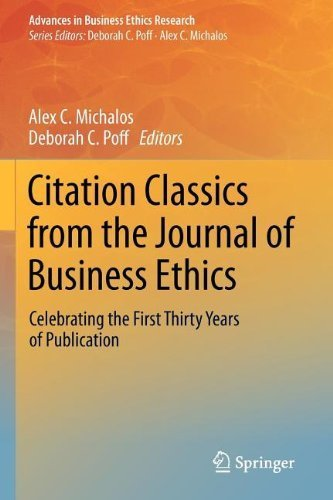 om the Journal of Business Ethics: Celebrating the First Thirty Years of Publication (Advances in Business Ethics Research) by Springer (2012-08-01) (Citation Castle)