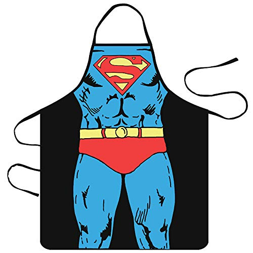 SMAZE Life Cartoon Comic Superman Apron for Kitchen BBQ Grill and Cooking Thin and Lightweight