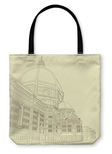 Gear New Shoulder Tote Hand Bag, Duomo In Florence, 18x18, - Independent Day Italia