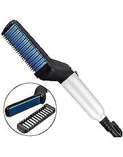 NEWKIBOU Alisador de Barba Peine de Peinado rápido para Hombres Rizador de Cabello eléctrico, Cepillo de alisador de Cabello Peine Multifuncional para Cabello
