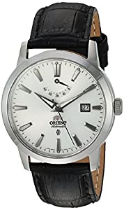 Orient Men's 'Curator' Japanese Automatic Stainless Steel and Leather Dress Watch, Color:Black (Model: FFD0J004W0)