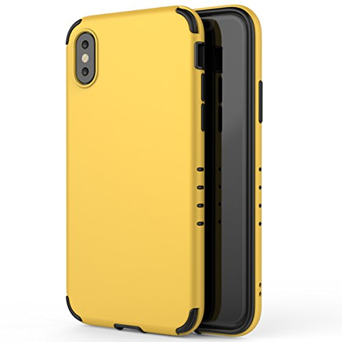 iPhone x Frosted Case-Lightweight Protective Slim Phone Cover yellow