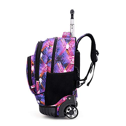 Student Trolley Bag Color : Black, Size : 48x21x31cm Color Optional Outdoor Travel Bag Mountaineering Bag XIANWEI Trolley Backpack Multi-Function Trolley Bag