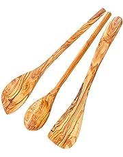 Schwertkrone Kooklepel set olijfhout | spatel | risottollepel | spits en rond