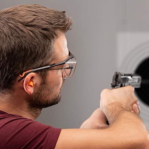 NoCry Over-Spec Lunettes de sécurité avec verres rayures enveloppante, avec certification ANSI Z87et OSHA et branches réglables et protection contre les rayons UV 400, Noir et Orange 4