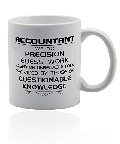 Accountant Gifts 11 oz. white ceramic cup. Accountant coffee mugs. (Accountant Coffee Mug)