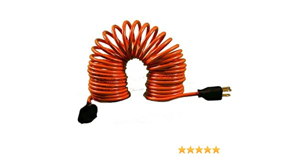 Astounding Flexy Coiled Extension Cord 14 Gauge 15 Amps Extends From 10 In Wiring Cloud Peadfoxcilixyz