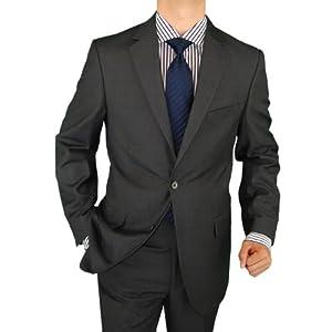 Salvatore Exte Men's 2 Button Charcoal Gray Suit