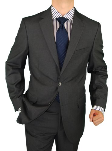 Salvatore Exte Men's 2 Button Charcoal Gray Suit