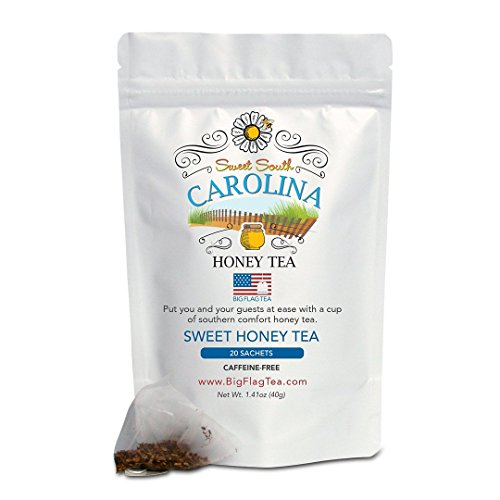 Sweet Honey Tea - Sweet South Carolina, Herbal Tea, Caffeine-Free, 20 Full-Leaf Sachets ()