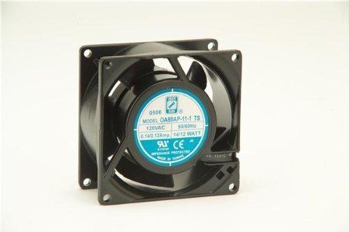 KNIGHT ELECTRONICS ORION FANS OA80AP-11-1WB OA80 Series 3000 RPM 80 x 80 x 38mm 31 CFM 115 V Dual Ball Bearing AC Fan - 1 ()