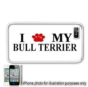 Bull Terrier Paw Love Dog Apple iPhone 4 4S Case Cover White