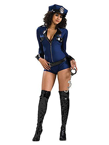Secret Wishes Sexy Miss Demeanor Costume, Navy Blue, -