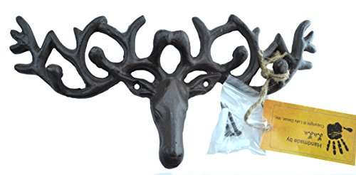 Lulu Decor, Cast Iron Deer Head Key Holder
