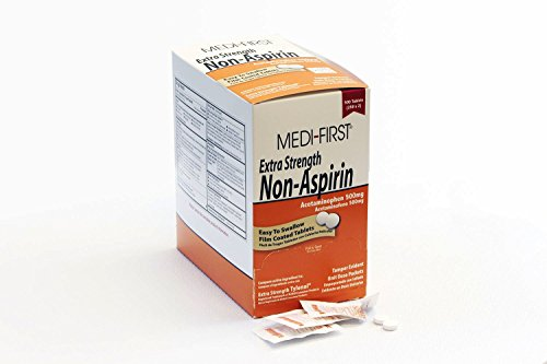 - Medi-First Non-Aspirin Coated Tablets, Regular Strength, 500 Count