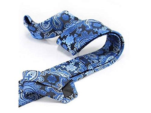 Fashion Men Jacquard Casual XDXDWEWERT Formal Occasion Tie Blue Style Fa1Aqqxw5