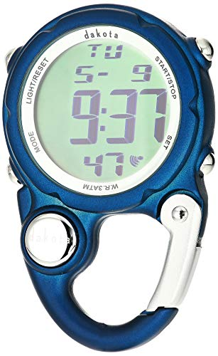 Clip Watch Pocket Black - Dakota Watch Company Digital Clip Mini Watch with Water Resistance, Dark Blue