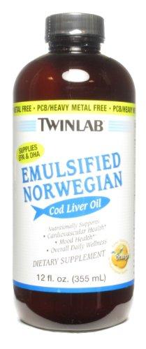 Twinlab Cod Liver Oil Emulsified Orange, 12 oz