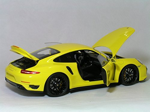 Amazon.com: Minichamps 1/18 Porsche 911 (991) Turbo S (yellow/black wheels) PORSCHE: Toys & Games