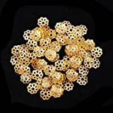 Beautiful Bead 6mm Gold Tone Flower Bead Caps for Jewelry Making (About 500pcs)