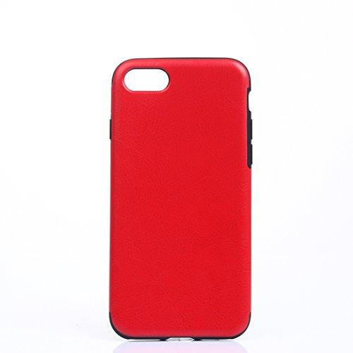 MXNET Fall für iPhone 7 Plus, verrückte Pferd Textur weiche PU Schutzmaßnahmen Leder Tasche CASE FÜR IPHONE 7 PLUS ( Color : Red )