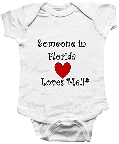 SOMEONE IN FLORIDA LOVES ME - FLORIDA BABY - State-series - White Baby One Piece Bodysuit - size Small - Myer Kids Clothing