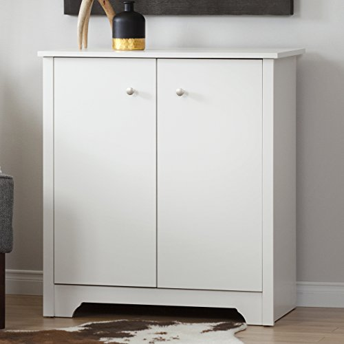 South Shore 10326 Small 2-Door Storage Cabinet with Adjustable Shelf, Pure White
