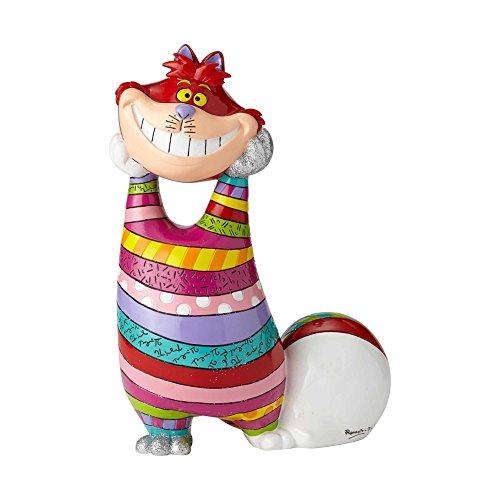 "Enesco Disney by Britto ""Alice in Wonderland"" Cheshire Cat Stone Resin Figurine, 14.25"
