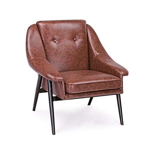 ARREDinITALY - Juego de 2 sillones de Color Naranja Oscuro ...