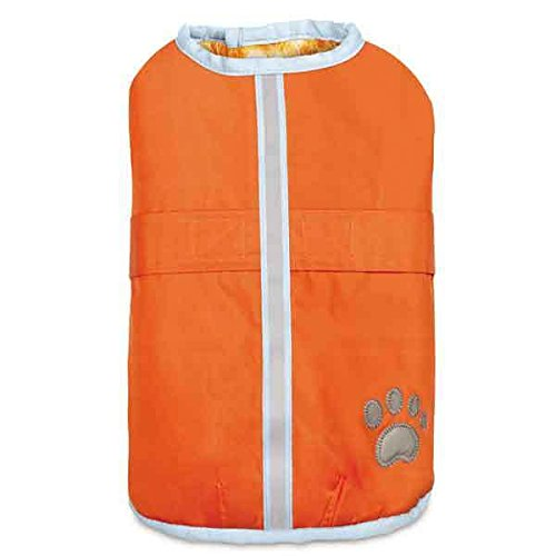 Warm Hairy Yarn Thermal Blanket Barn Bright Dog Coats Reversible Water Resistant(Medium Orange)