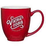 Best Good Gift Boyfriend Mugs - 1988 30th Birthday Gifts for Women Men Red Review