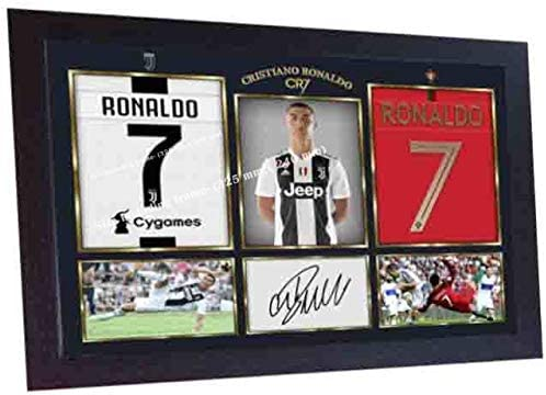 S&E DESING Cristiano Ronaldo - Foto con autógrafo Firmado ...