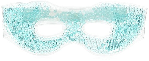 Hot / Cold Therapeutic Bead Pearl Gel Eye Masks (1 Assorted Color) 9.5L