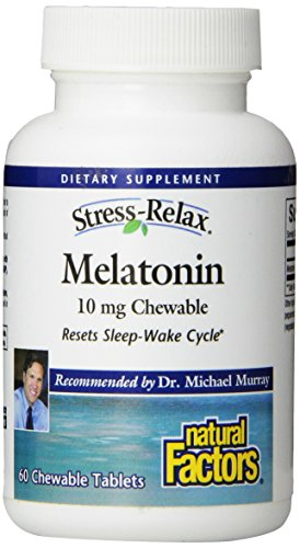 Natural Factors Stress-Relax mélatonine Tablet, 10 mg, 60 comte