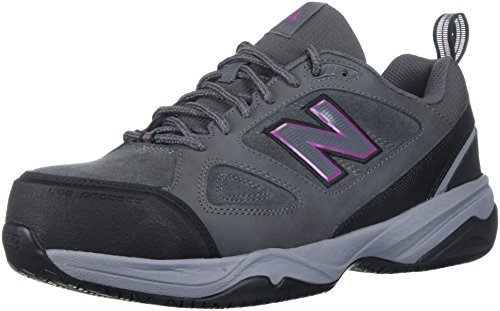 (New Balance Women's 627v2 Work Training Shoe, Grey/Pink, 6.5 D US)