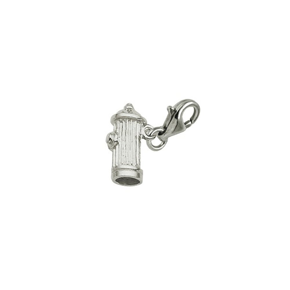 Charms for Bracelets and Necklaces Hydrant Charm With Lobster Claw Clasp