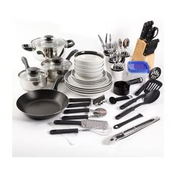 essential home total kitchen cookware utensil 83 pc combo set - Kitchen Items