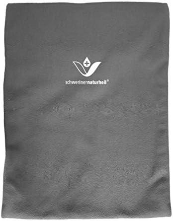 schwerinernaturheil Moor Wärmekissen 28x38 cm mit Fleecebezug in Basaltgrau, Wärmflasche, Heizkissen, Wärmekompresse