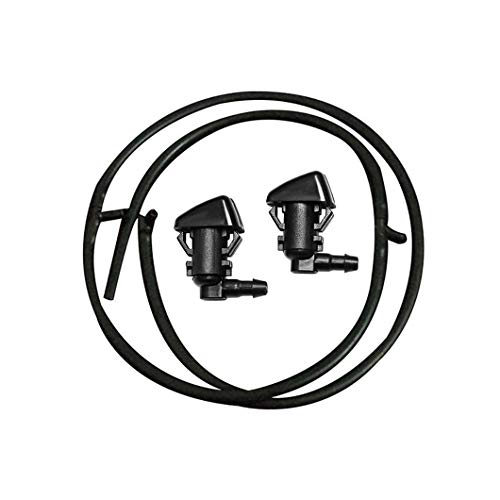 (ZHParty for 2008 2009 2010 FORD F-250 F-350 F-450 F-550 Super Duty Windshield Washer Fluid Jet Nozzles & Rubber Tube Hose Kit-Replaces OEM # 7C3Z-17K605-A & 7C3Z-17603-A)