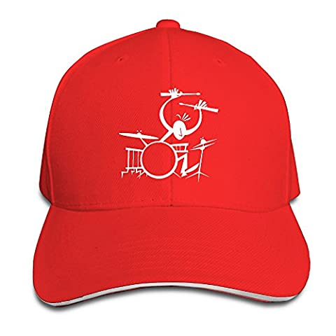 Printed Drummer Music Instruments Cool Sports Summer Baseball Hats Sandwich Cap (Instruments Quirurgicos)