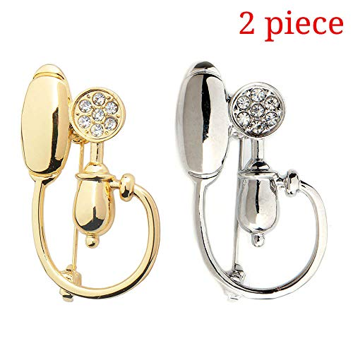 hanreshe Blood Pressure Meter Pin 2 Pieces Medical Jewelry Doctor Nurse Therapist Physician Science Jewelry Men Women Medical Student Brooch (Blood Pressure Meter Brooch Pin)