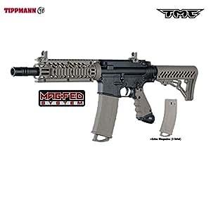 Tippmann TMC MAGFED Paintball Marker - Black / Tan