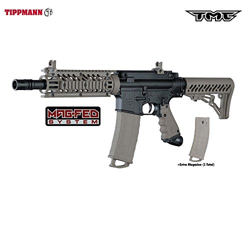Tippmann TMC MAGFED Paintball Marker, Black/Tan