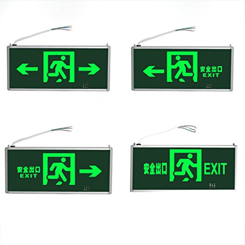Emergency lights safety exit lights light led plug fire emergency lights evacuation signs lights ( Color : Dark green-1 ) by Baoduohui (Image #2)