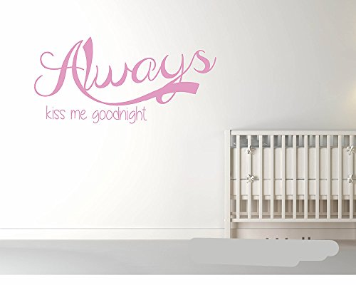 rwqer Home Décor Wall Sticker Quote Family Love Always Kiss Me Goodnight Diy Family Wallpaper Wall Sticker]()