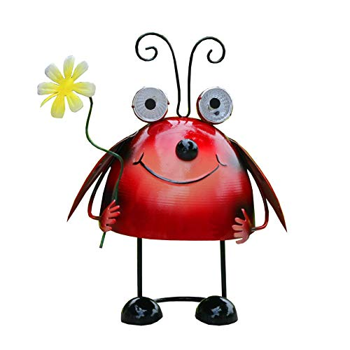 Solar Light,Metal Ladybug,Outdoor, Garden, Terrace,LED Lawn Light Decorate (Ladybug Lights)