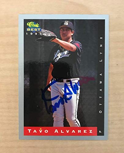 TAVO ALVAREZ OTTAWA LYNX SIGNED AUTOGRAPHED 1993 CLASSIC CARD #121 W/COA