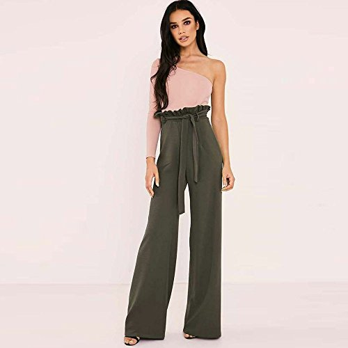Casual de Pantalons Unie de Taille NINGSANJIN Femmes Couleur leve Sangles Arme Verte Longues Pantalons 1q4t0T